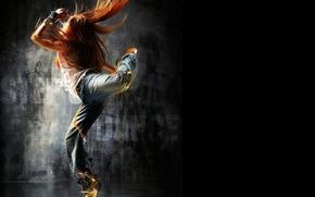 Музыка: рыжая, волосы, танец