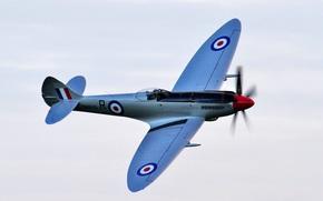 Авиация: британский истребитель, небо, самолёт, полёт