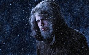 Мужчины: снег, холод, портрет