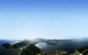 Пейзажи: острова, жанейро, де, пейзаж, рио, небо, прекрасное, море, бразилия, рио-де-жанейро, красивый