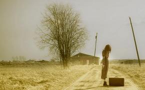 Ситуации: чемодан, дорога, девушка, настроение