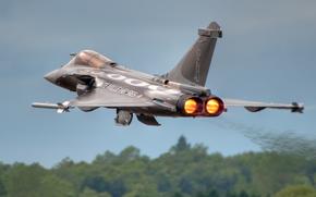 Авиация: взлет, истребитель, «Рафаль», многоцелевой