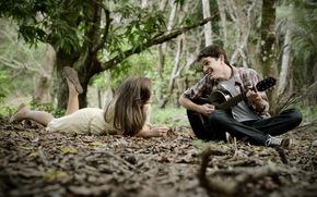 Музыка: парень, девушка, настроение, гитара