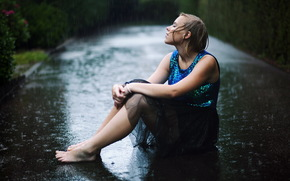 Ситуации: дождь, настроение, девушка, дорога