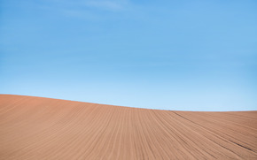 Минимализм: поле, пейзаж, небо