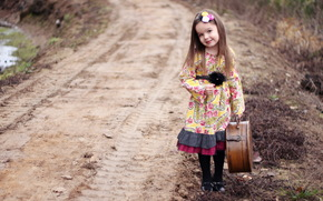 Ситуации: чемодан, настроение, дорога, девочка