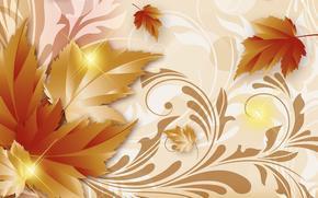 Текстуры: арт, осень, листья, золотая осень, фон