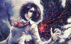 Аниме: упырь, Токийский монстр, девушка, арт, глаза, Токийский гуль
