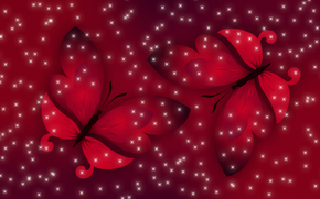 Текстуры: красный, весна, Настроение, бабочки, свет