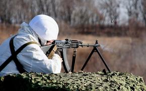 Мужчины: пулемёт, солдат, оружие, армия, стрельба