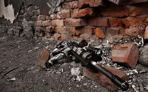 Оружие: оружие, стена, автомат