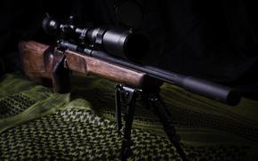 Оружие: снайперская, винтовка, оружие, ткань