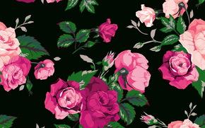 Текстуры: фон, розы, текстура, принт, цветы