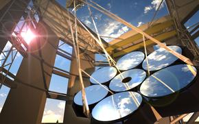 Космос: Гигантский Магелланов телескоп, небо, зеркала