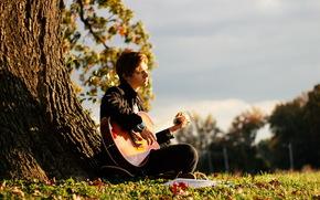 Музыка: парень, настроение, музыка, гитара