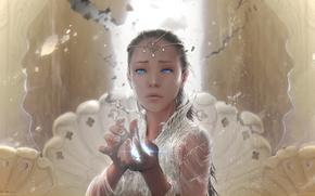 Фантастика: слезы, Бесконечная история, девушка, магия, арт, фэнтези, украшения, руки