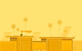 Минимализм: антенна, дома, город, небо, крыша