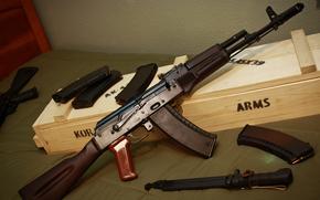 Оружие: штык-нож, автомат, Калашникова, оружие