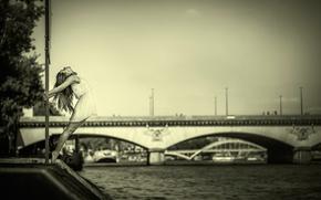 Ситуации: платье, мост, река, танец, грация, девушка