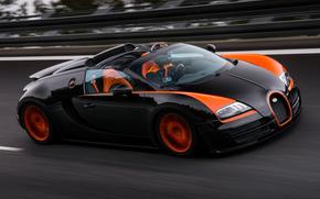 Машины: скорость, трасса, Bugatti, суперкар, бугатти