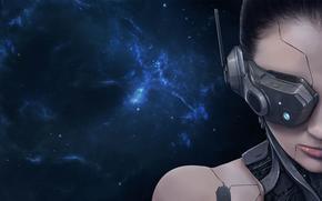 ����: Transverse, Girl, robot, space, danger