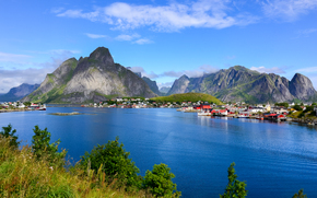 Пейзажи: Lofoten, north of Norway, Scandinavia