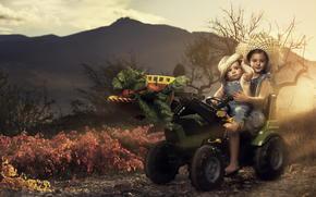 Ситуации: трактор, дети, урожай, овощи