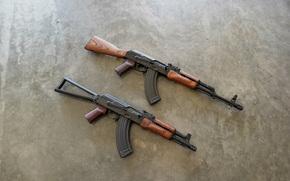 Оружие: фон, автоматы, Калашникова, оружие