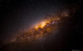 Космос: млечный путь, небо, ночь, звезды