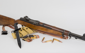 Оружие: оружие, фон, патроны, самозарядная, винтовка, штык-нож