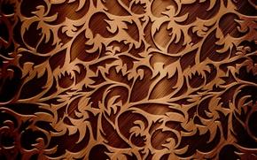 Текстуры: узор, текстура, веточки, шоколадный цвет