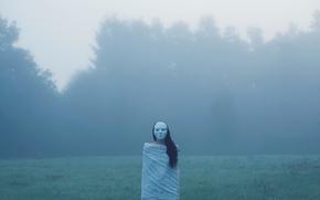 Ситуации: лес, фигура, поле, туман, жуть, маска