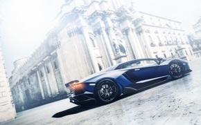 Машины: ламборджини, авентадор, Lamborghini, гран туризмо, синий, профиль