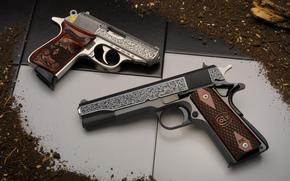 Оружие: пистолеты, оружие