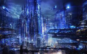 Фантастика: фантастика, арт, Город, транспорт, будущее
