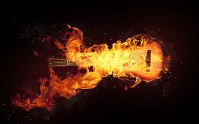 Музыка: Черный, Огонь, Гитара