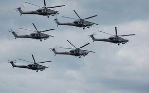 Авиация: вертолеты, «Беркуты», полет, ударные