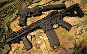 Оружие: глушитель, карабин, оружие, пистолет