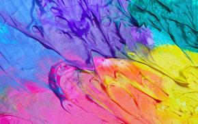 Текстуры: краски, разноцветные, разводы, цвета