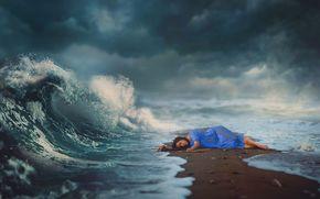 Ситуации: магия, сон, море, волшебство, небо, волна, девушка
