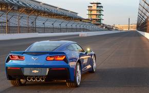 Машины: синий, шевроле, задок, Chevrolet, автомобиль безопасности