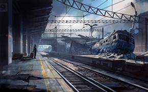Фантастика: авария, вокзал, ожидание