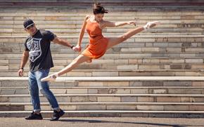 Ситуации: танец, балерина, ступеньки