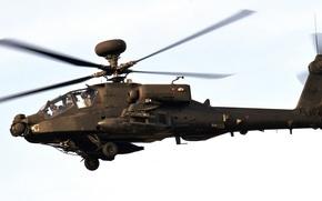 Авиация: вертолёт, небо, армии США, основной, ударный