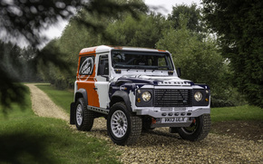 Машины: Ленд Ровер, передок, Land Rover, Дефендер, фон