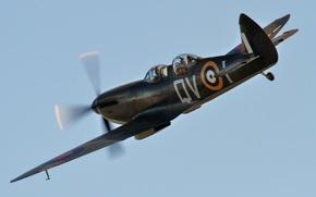 Авиация: небо, британский, учебно-тренировочный самолет, двухместный