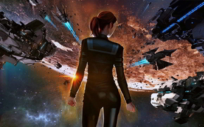 ����: Ancient space, Sci Fi, girl, fighting