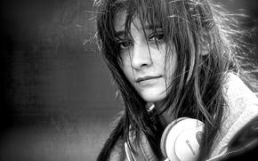 Музыка: девушка, наушники