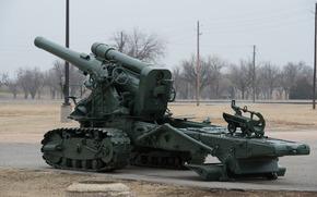 Оружие: пушка, артиллерия, оружие, гусеничный лафет
