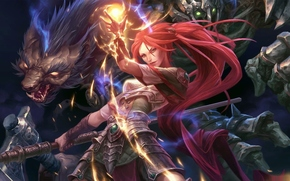 ����: Shadows_heretic_kingdoms, girl, magic, fighting